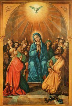 Rainha dos Apóstolos - pintada, em 1847, por Serafim Cesaretti (1777-1858), a pedido de São Vicente Pallotti