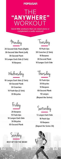 Excellent Ready to set your week up for success? Try this week-long workout plan. The best part is that you can do it anywhere —no equipment needed!  The post  Ready to set your week up for success? Try this week-long workout plan. The best…  appeared first on  Beauty and F ..