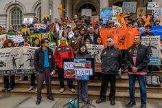 On a Press Conference held at the New York City Hall steps on February 23,2017; Leaders from the Ramapough Lenape Nation, NYC American Indian Community House, American Indian Law Alliance, American Indian Law Alliance, backed by allies including a wide range of community, environmental and environmental justice organizations, call on Mayor DeBlasio as well as Comptroller Stringer to end the City's business, contracts and pension fund investments with banks such as Wells Fargo, which are…