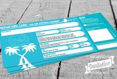 Departure Card Wedding Invitation by InvitationDesignNZ on Etsy