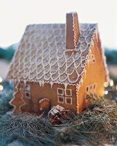 Create a Swedish-style cottage using our templates, then add sweet details such as piped icicles, boughs of greenery, and a cinnamon-stick woodpile.Print the Gingerbread House TemplatesHow to Make the Swedish Gingerbread House
