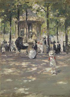 All sizes | Herbert James Gunn - Le Petit Café, Tuileries, Paris [1913] | Flickr - Photo Sharing!