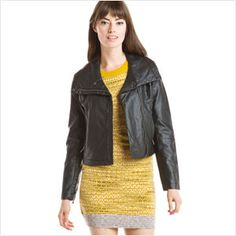 Leather Jackets -                                                                        Cole Haan Chocolate Ruffle Leather Jacket                                 Cole Haan Black Lambskin Hooded Jacket                                 Cole Haan Black Lambskin Belted Jacket                                 Cole...  #Baker, #Belt, #Blush, #Jacket, #Motorcycle, #Tie, #Vest