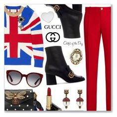 """Gucci"" by dressedbyrose ❤ liked on Polyvore featuring Gucci and Petit Bateau"