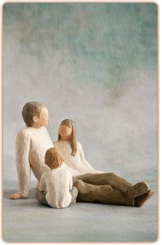 Father & Daughter Figurine with Imaginative Child (2 Pieces Total) Willow Tree