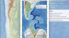 Así quedó el mapa con los nuevos límites marítimos del mapa de la Argentina