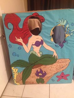 DIY The Little Mermaid Photo Op Made This For My Nieces First Birthday Party