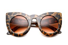 Alexis Round Cat Eye Sunglasses By 80's Collection