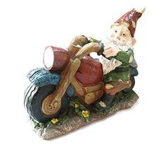 Motorcycle Biker Solar Garden Gnome | bikeraa.com