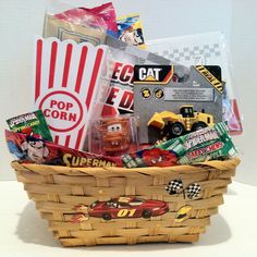 Have Fun with different characters enjoy and explore your Adventure  (2) Candy Taffy Super-Man (1) Spider-Man Taffy Chews (1) Popping Candy Checker Game Pop Corn and Pop Corn Container Animal Crackers Cat Mini Machine Disney Cars Mater