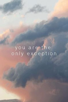 the only exception.