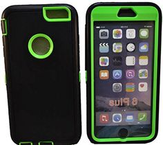 """myLife Layered Protection """"Built In Screen Protector"""" Heavy Duty Case for iPhone 6 Plus (5.5"""" Inch) by Apple {Turtle Green + Enchanting Black """"Tuff Sleek Armor"""" Three Piece SECURE-Fit Rubberized Gel} myLife Brand Products http://www.amazon.com/dp/B00QL6DRUW/ref=cm_sw_r_pi_dp_w8IHub0V52R5C"""