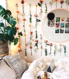 Tape fake flowers to the wall if buying a fresh bouquet every week is simply out of your budget. 14 Actually Doable Ways To Make Your Home Instagram-Worthy