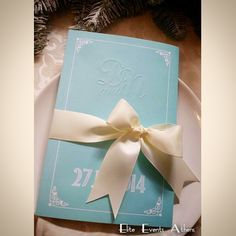 Tiffany blue invitation (Elite Events Athens)