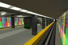 [Minecraft] Subway station by Yazur.deviantart.com on @DeviantArt