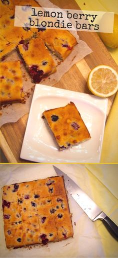 Squidgy, sweet, tart & studded with delicious berries, these lemon ...