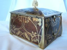 Erhard & Sohn Large Antique Box Art Nouveau Era c. 1910 by shelley