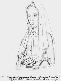 Sketch of Margaret Tudor, Henry VIII's older sister. She married into the Scottish royal family, which is where James VI of Scotland got his claim to the English throne after Elizabeth I died.