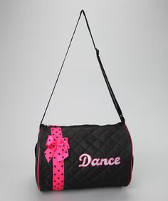 Take a look at this Black Bow 'Dance Duffel Bag by Seesaws & Slides on #zulily today!