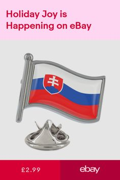 Slovakia Wavy Flag Pin Badge Bratislava Poprad Slovakian New Exclusive Flag Pins, Bratislava, Pin Badges, Ebay
