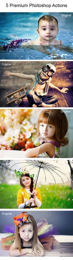 5 Premium #Photoshop Actions - Photo Effects #Actions Download here: https://graphicriver.net/item/5-retouch-photoshop-actions/20069841?ref=alena994