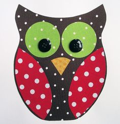 Christmas Owl Fabric Applique