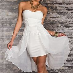 Elegant Lady Strapless Spandex Party Dress Sexy Uniform - USD $19.99