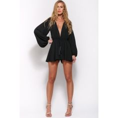 Wish Upon A Star Playsuit Black