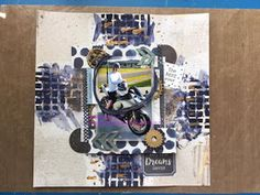 This month over at Simply Papercraft our challenge is just for fun Anything Goes so I made a Scrapbook page using the skills I learnt wh. Just For Fun, Scrapbook Pages, Mixed Media, Paper Crafts, How To Make, Cards, Tissue Paper Crafts, Paper Craft Work, Papercraft