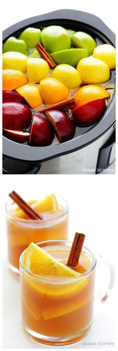 Homemade Slow Cooker Apple Cider -- made 100% from scratch, and unbelievably easy and delicious! | gimmesomeoven.com