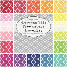 free moroccan tile paper and overlay