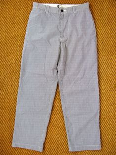 Gap Clean Cut Seersucker Blue & White Stripe Trousers 30x28