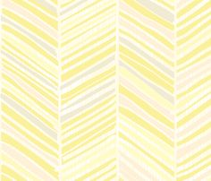 Herringbone Hues of Pastel Yellow by @Friztin - @Spoonflower - Fabric / Wallpaper / Gift Wrap