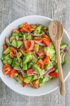 You just have to read the reviews on this cucumber tomato avocado salad to realize it is truly amazing. From day 1, you all told us that you loved it and then it went viral. About 8,000 people a day check out this recipe. It's been...
