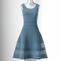 Simply Vera - Vera Wang Fit and Flare Sweaterdress