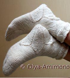 Sakura Amimon Socks by Olya Amimono - free