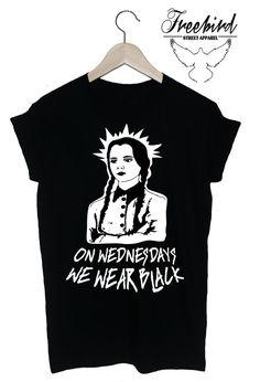 Hey, I found this really awesome Etsy listing at https://www.etsy.com/listing/188298190/wednesday-adams-goth-mean-girls-tshirt
