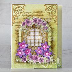 Climbing Clematis, Heartfelt Creations Cards, Brick Texture, Bamboo Leaves, Beautiful Handmade Cards, Flower Center, Ink Pads, Flower Shape, Flower Petals