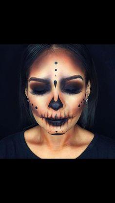 Skull Black Dias de Los Muertos makeup
