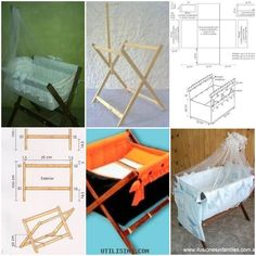 How To Make Baby Cribs DIY Instructions Instructions Pin How to make Baby Cribs Beds DIY tutorial in Baby Crib Diy, Baby Crib Bedding, Baby Bassinet, Baby Cribs, Baby Furniture, Doll Furniture, Baby Hammock, Diy Bett, Baby Co