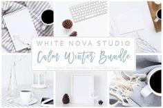 Calm Winter Bundle by White Nova Studio on @Graphicsauthor