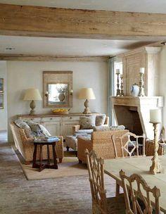 Breathtaking European farmhouse decorated room found on Hello Lovely Studio
