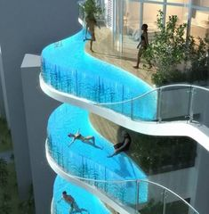 swimming pool balcony: even if it is imaginary