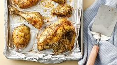 Slow-cooked chicken, browned and crispy, makes a comforting meal.
