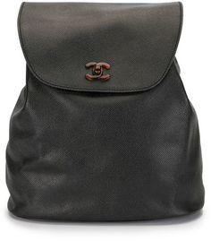 1998 CC turn-lock flap backpack Leather Backpack, Chanel, Backpacks, Bags, Fashion, Handbags, Moda, Leather Book Bag, Fashion Styles