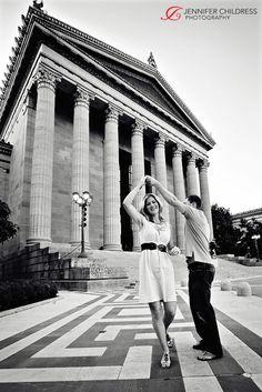 Philadelphia Art Museum Engagement Photos