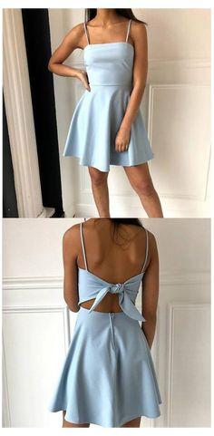 Light Blue Homecoming Dresses, Mini Prom Dresses, Semi Dresses, Hoco Dresses, Tight Dresses, Evening Dresses, Elegant Dresses, Simple Dresses, Wedding Dresses
