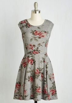 Mid-length Sleeveless A-line Rest Stop and Smell the Roses Dress by ModCloth