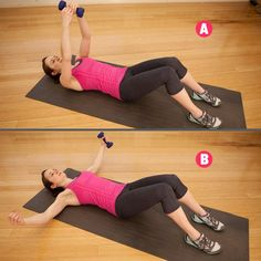 Bent-over dumbbell rows  http://www.womenshealthmag.com/fitness/arm-toning-exercises