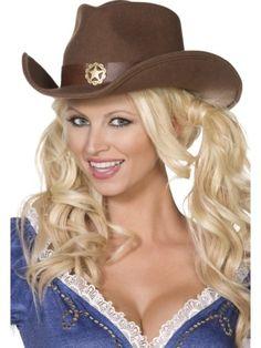 Fancy Dress Western Cowgirl Hat